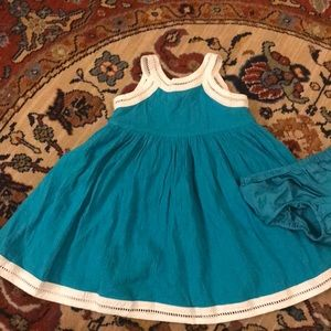 Janie and Jack - Teal Summer Dress